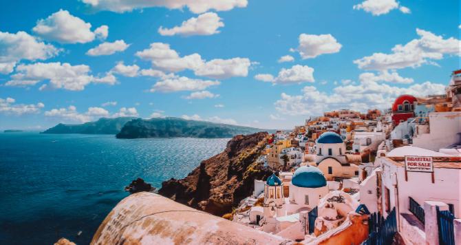 panorama di un'isola greca