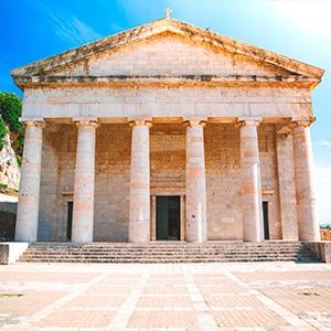 facciata chiesa san giorgio a corfù