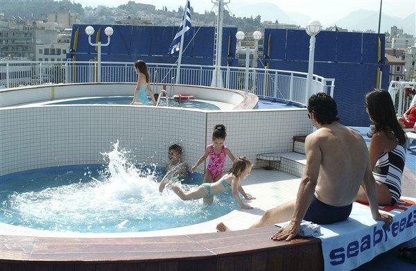 Schwimmbad auf dem Schiff