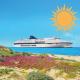 Immagine che ritrae una delle Cruise impiegate sulla linea Sardegna in navigazione. L'immagine è stata scattata dalla spiaggia.