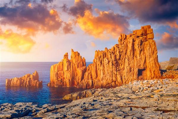 spiaggia di Arbatax al tramonto